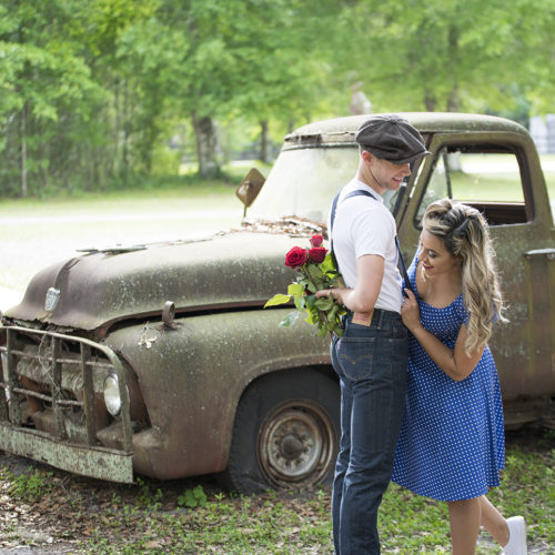 Country Styled Engagement shoot